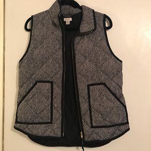 JCrew houndstooth vest